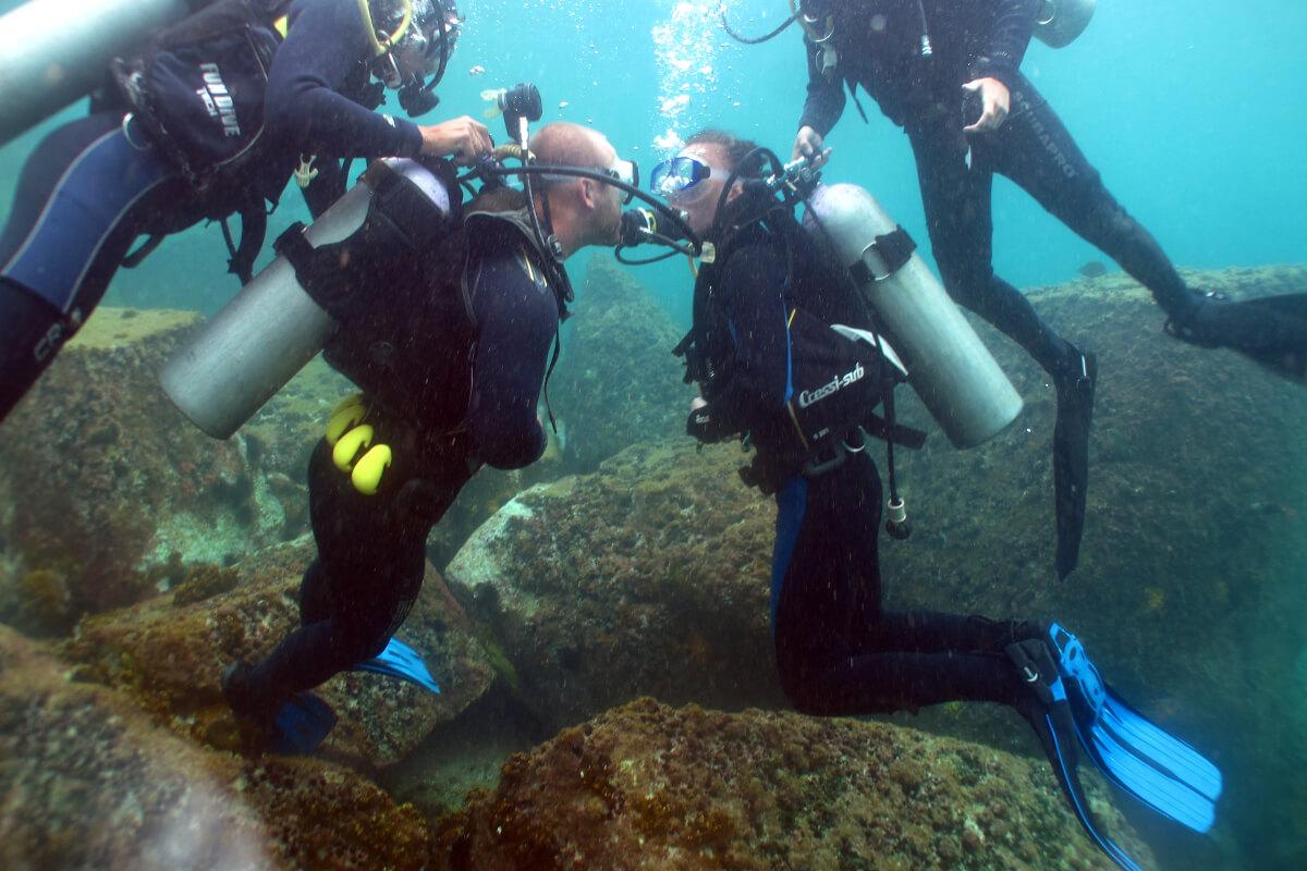 Xenia und Tm unter Wasser