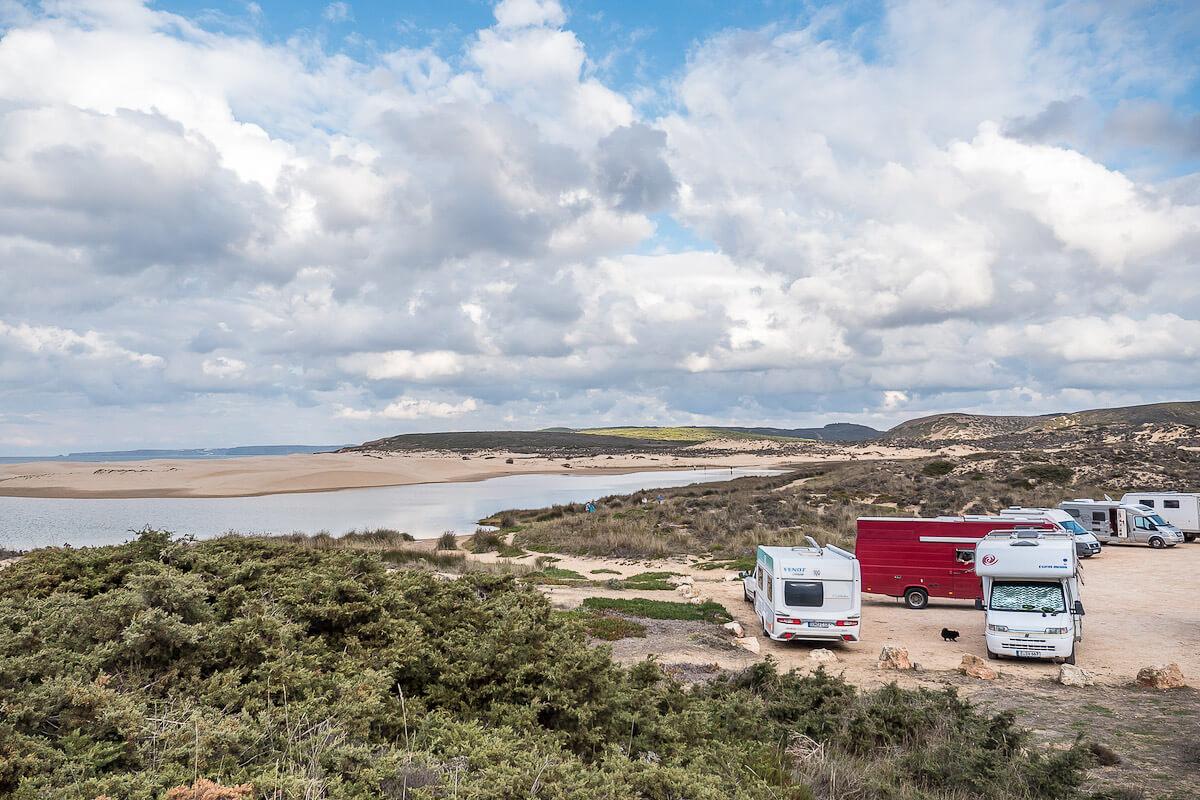 Wohnwagen am Praia da Bordeira