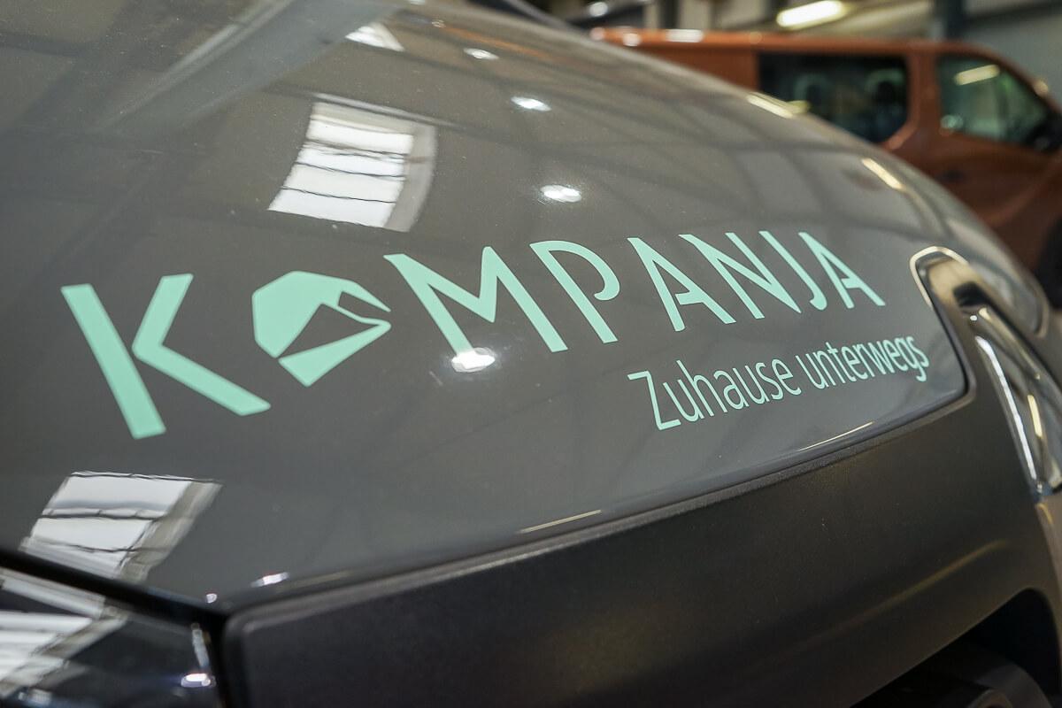 Mini-Camper, Campervan, Kompanja, Logo,