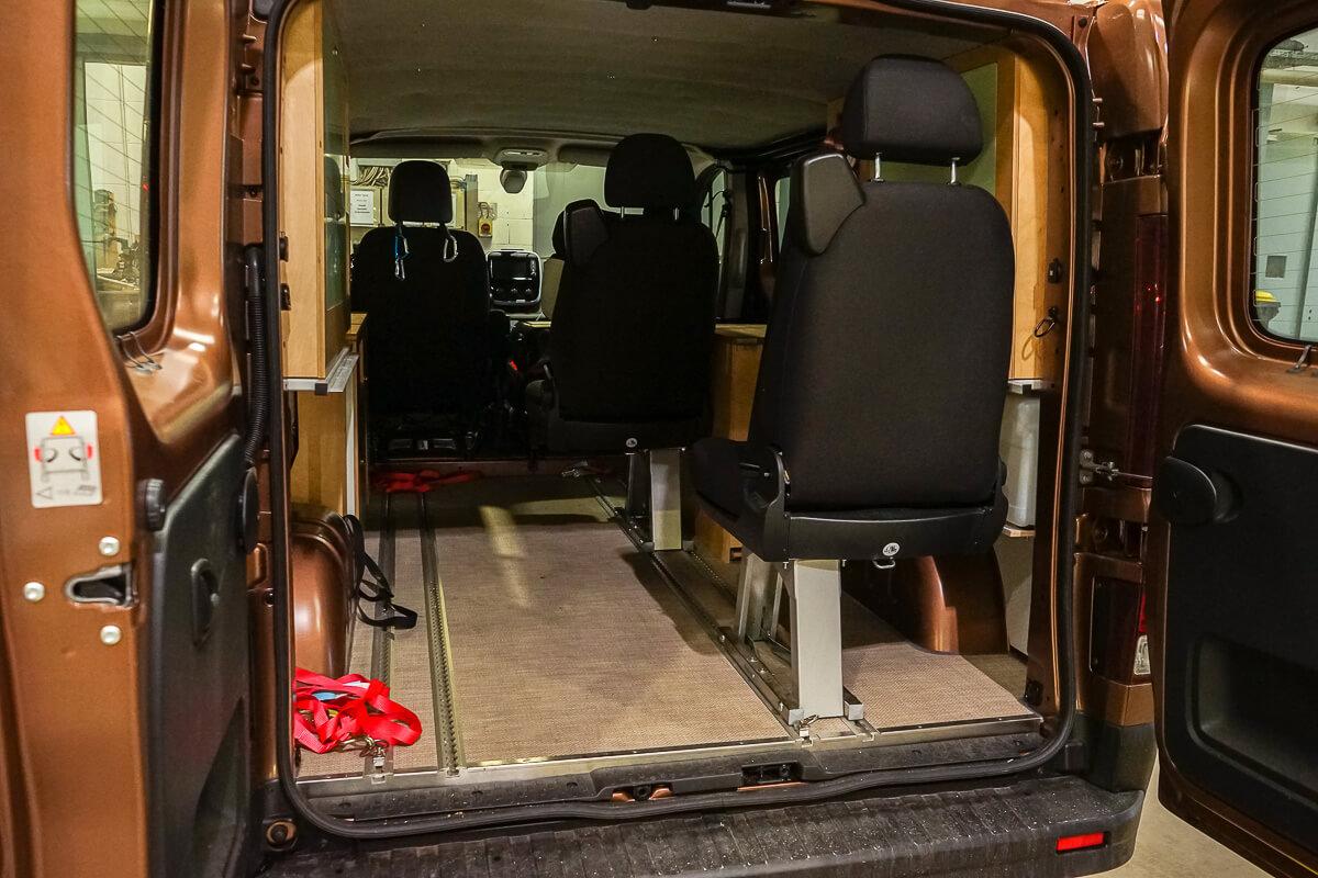 Kompanja Campervan: Sitze flexibel positionierbar