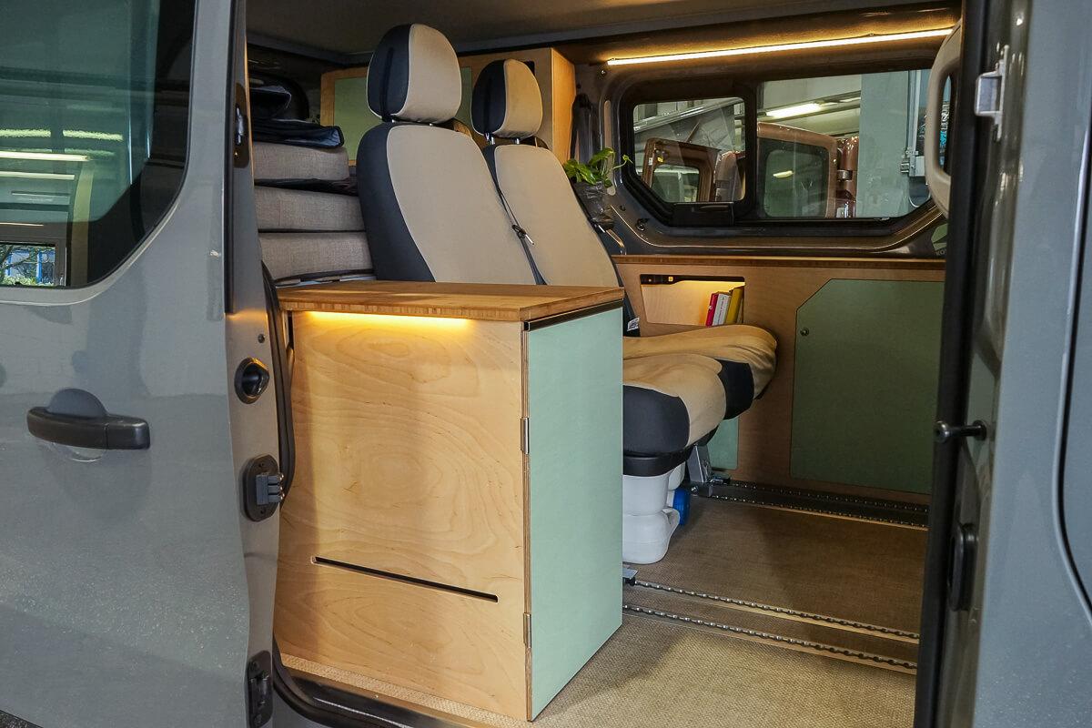 Mini-Camper Kompanja: Blick ins Fahrzeug