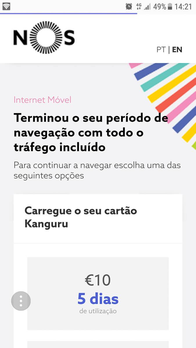 Guthaben aufladen NOS SIM-Karte Portugal