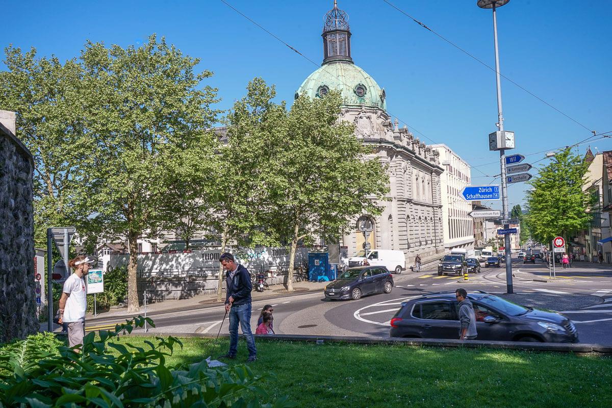 Stadtgolf in Frauenfeld - selber spielen