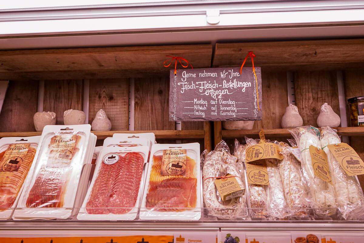 Schlossladen Herdern Spezialitäten eigene Produkte Fleischwaren