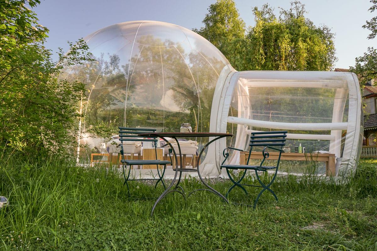 Himmelbett im Thurgau - schlafen im Bubble