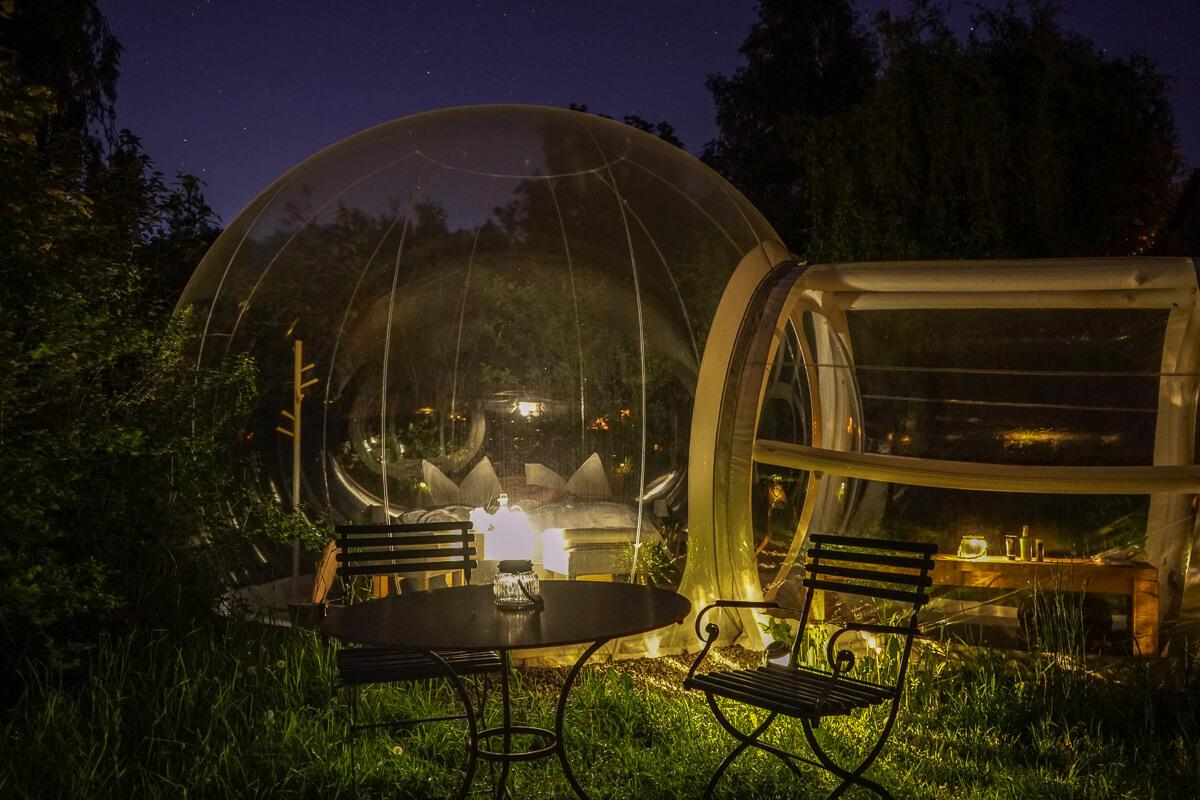 Aussergewöhnlich übernachten in der Schweiz: Bubble