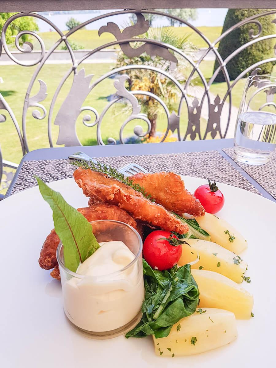Egliknusperli und weitere Fischgerichte aus dem Bodensee - Schloss Seeburg Kreuzlingen