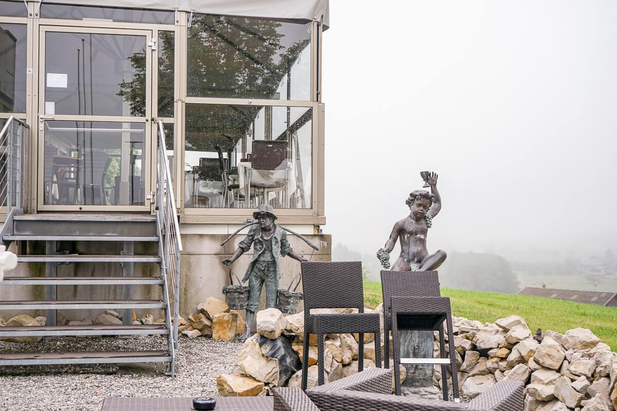 Restaurant mit Aussicht im Thurgau: Hotel Restaurant Nollen Wuppenau