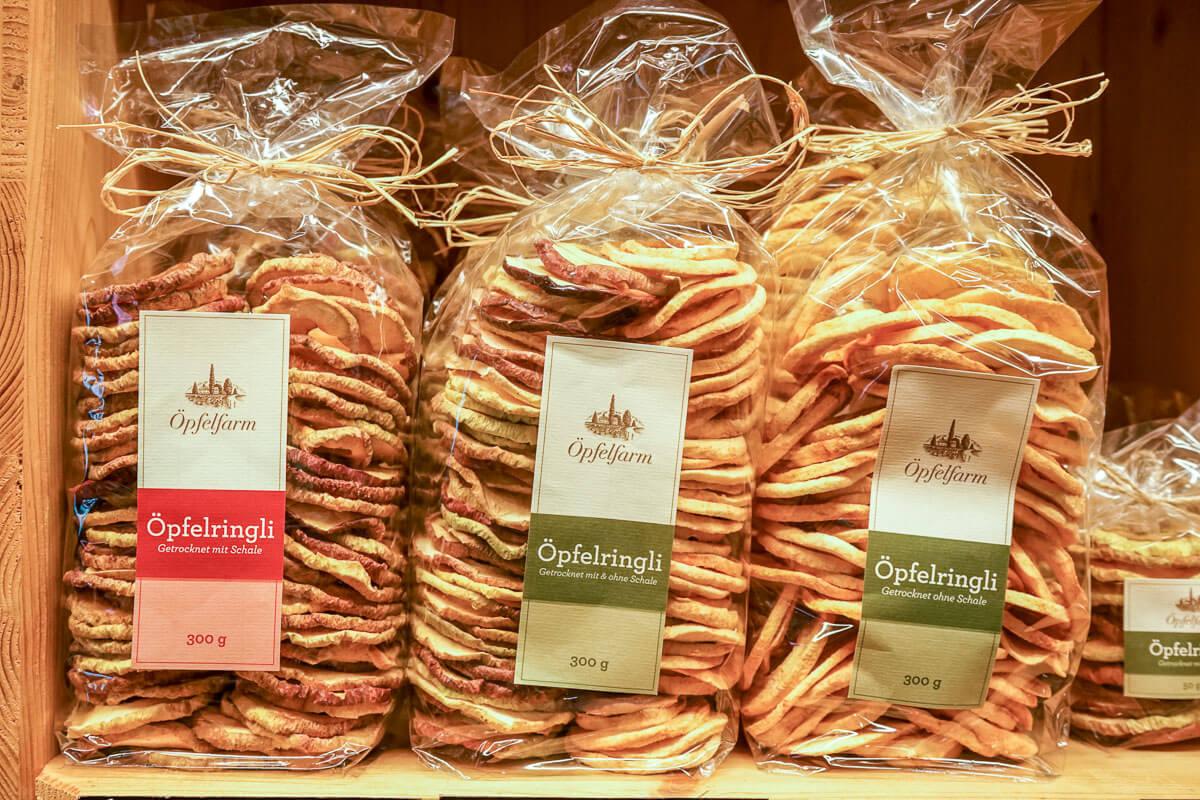 Mit oder ohne Schale: Thurgauer Apfelringe von der Öpfelfarm