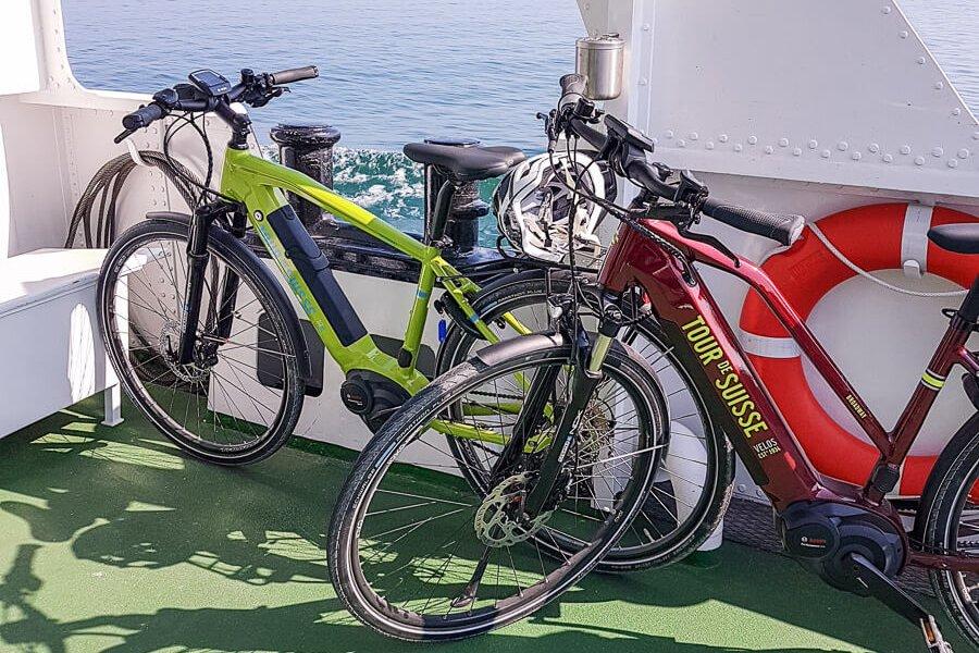 Fahrrad-Transport auf dem Bodensee Schiff