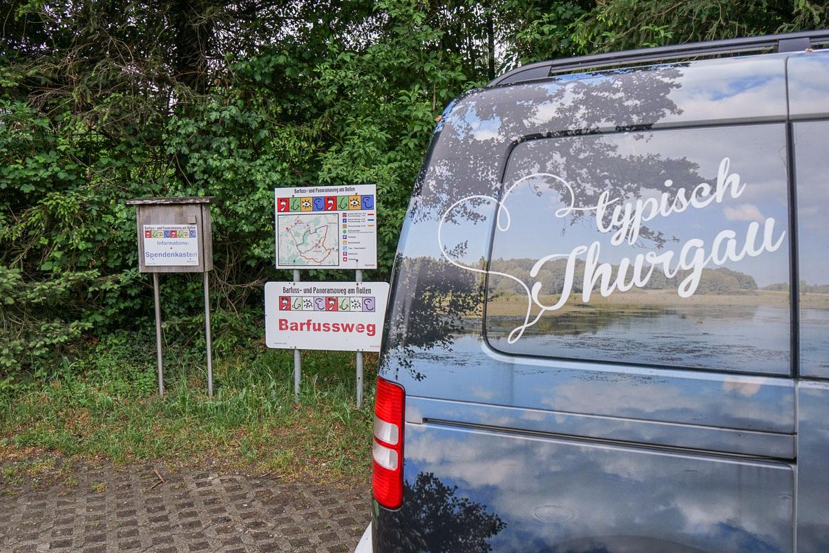 Barfussweg Wuppenau am Nollen - Startpunkt