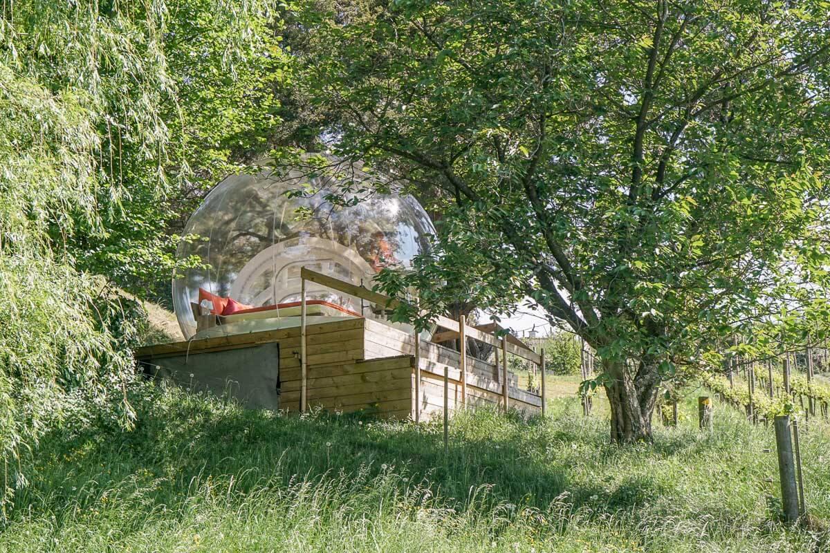 Bubble Himmelbett im Arenenberg