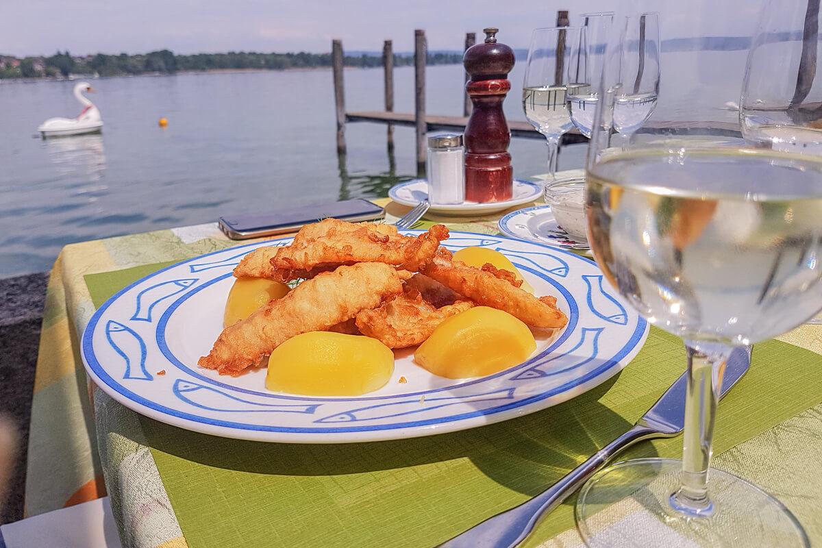 Eglichnusperli aus dem Bodensee - Seerestaurant Frohsinn