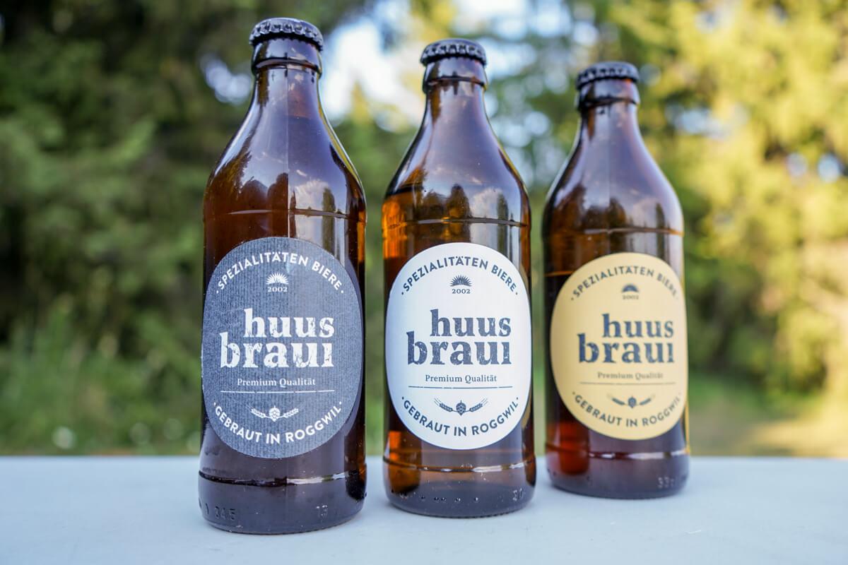 Spezialitäten Bier aus dem Thurgau: Huus Braui