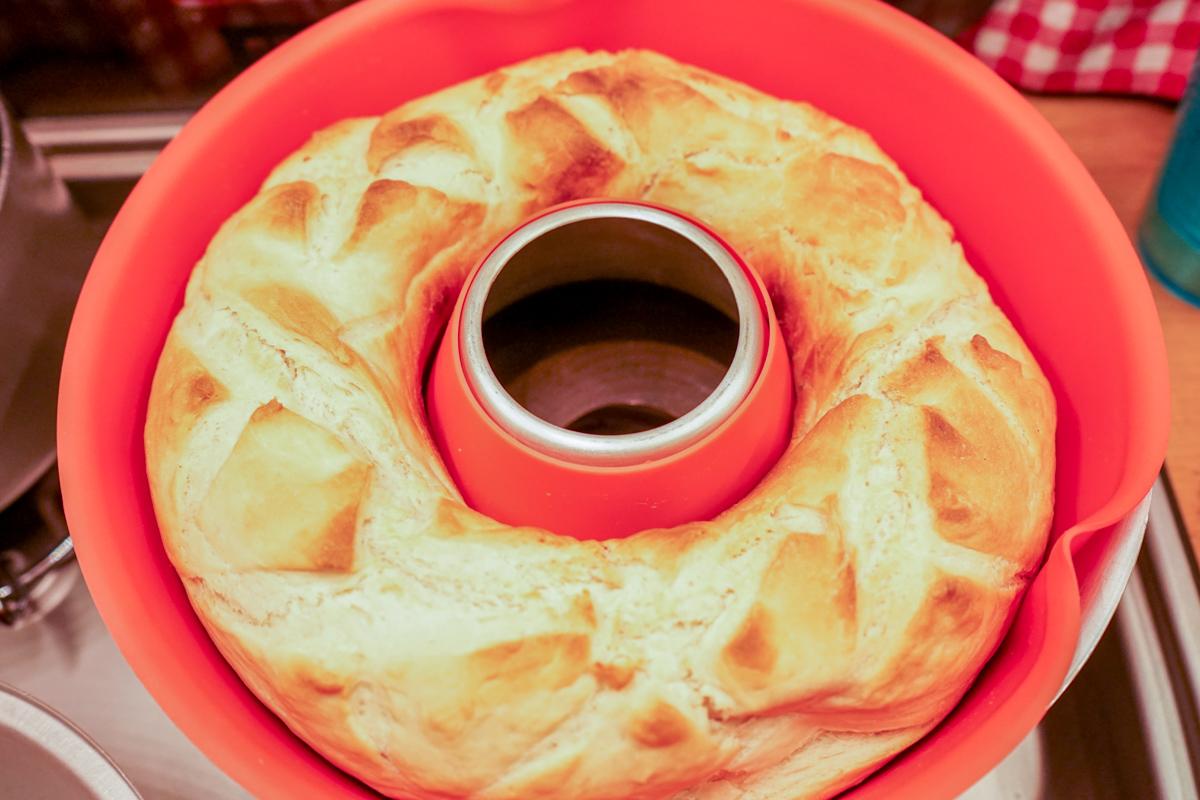 Wie wird das Brot oben auch braun im Omnia? Baguette Rezept