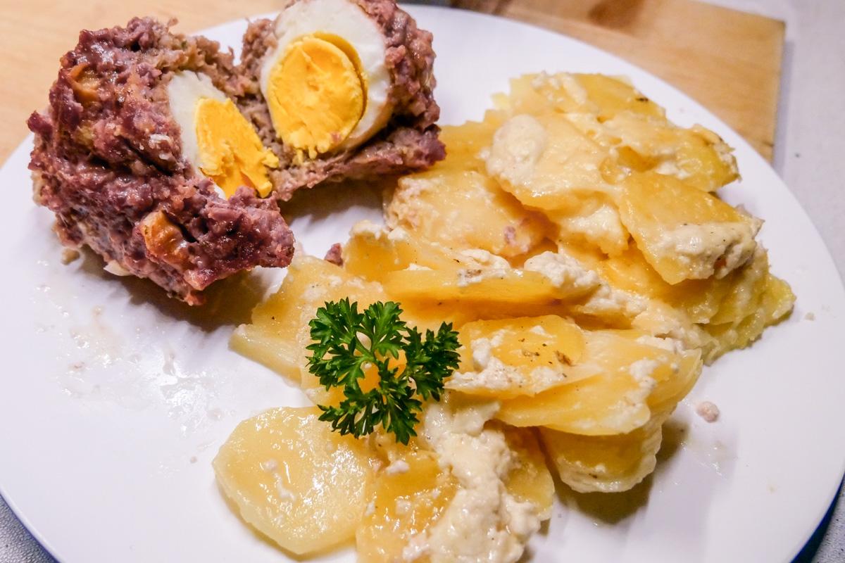 Rezept Hackbraten Kartoffelauflauf Omnia