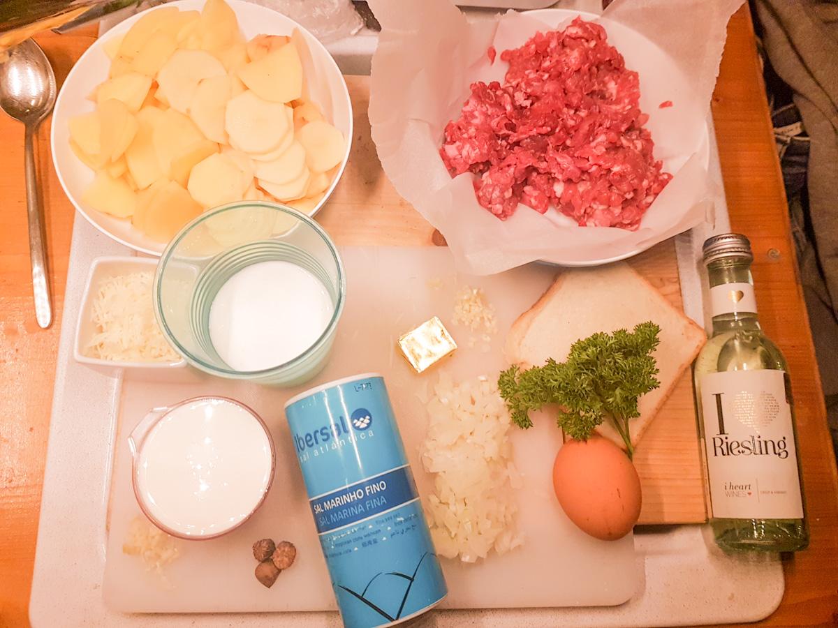 Rezept für Omnia: Hackbraten und Kartoffelauflauf