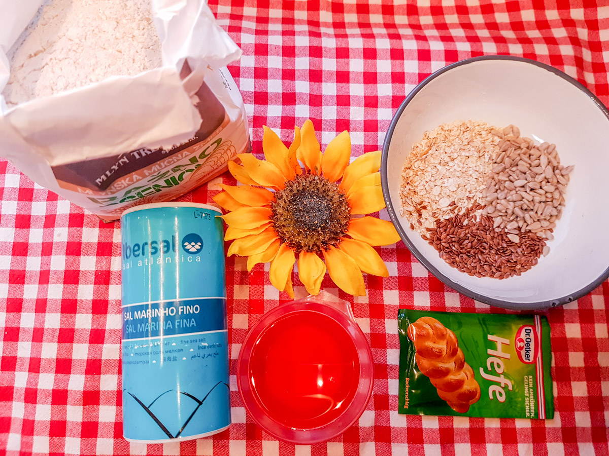 Rezept knuspriges Mehrkornbrot aus dem Omnia