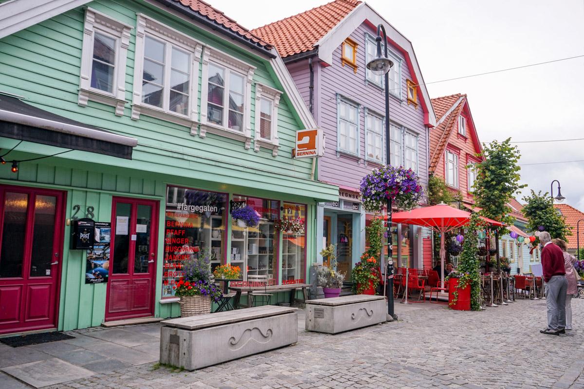 Stavanger farbige Häuser
