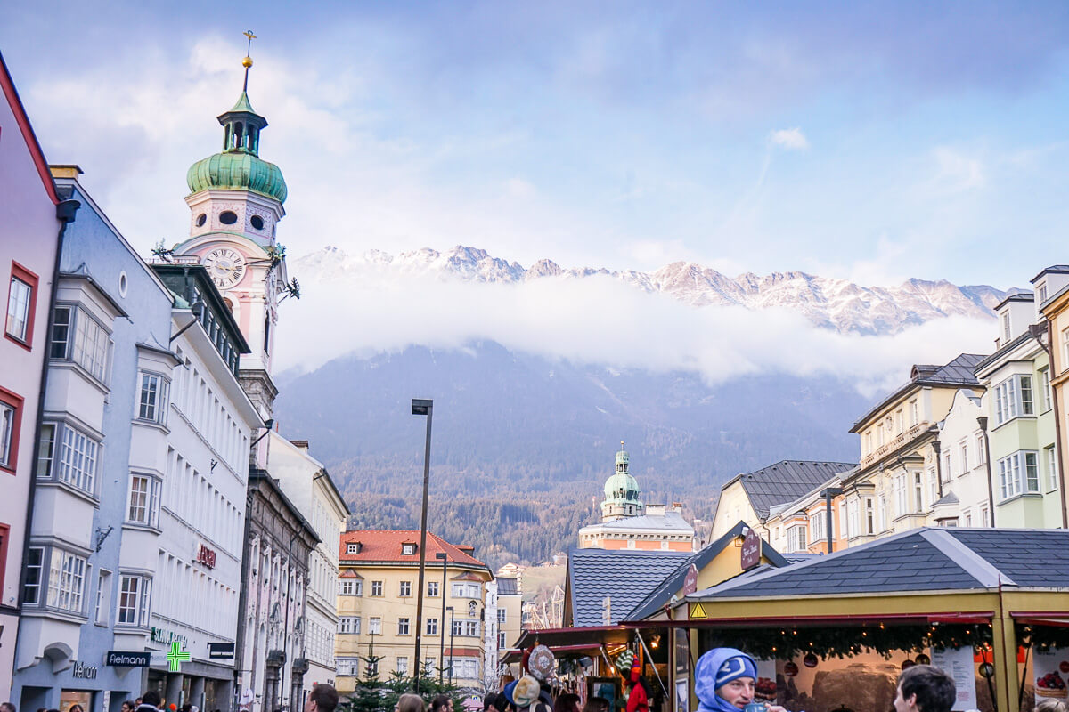 Innsbruck Berge Weihnachtsmarkt