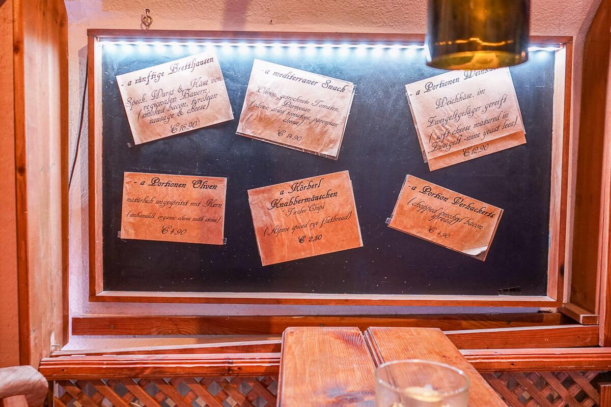 Culinarium in der Altstadt Innsbruck - Bar mit Ambiente und Flair