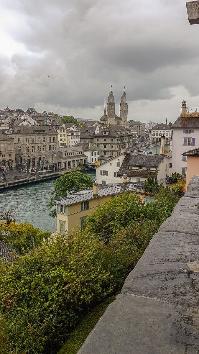 Blick auf die Altstadt von Zürich