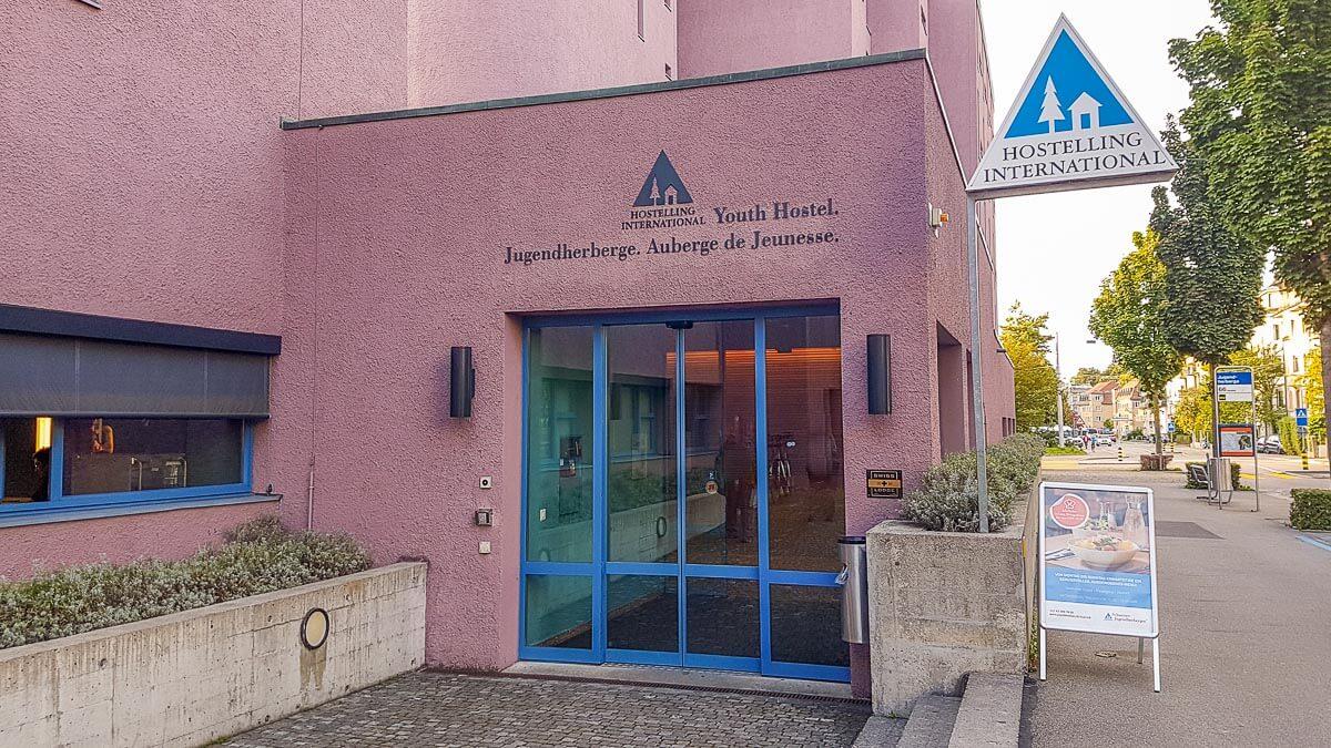 Jugendherberge Zürich Eingang