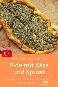 Rezept: Türkisches Pide mit Käse und Spinat