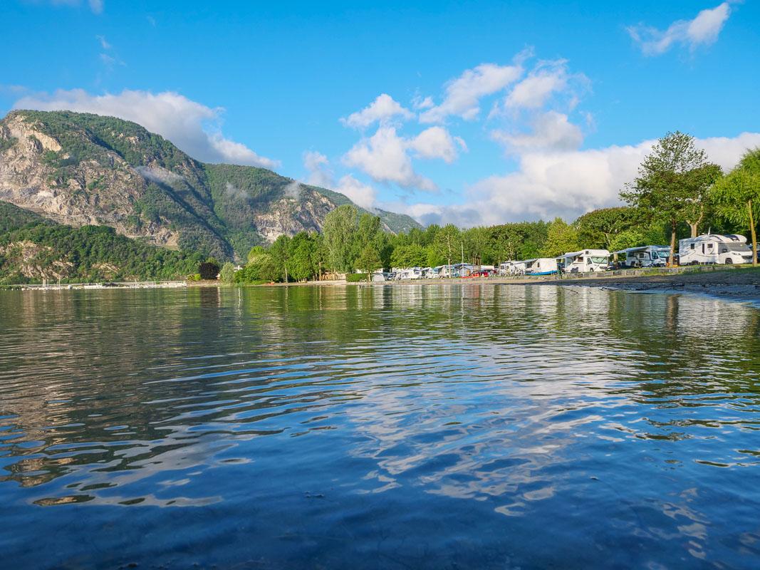 Campingplatz direkt am Lago Maggiore