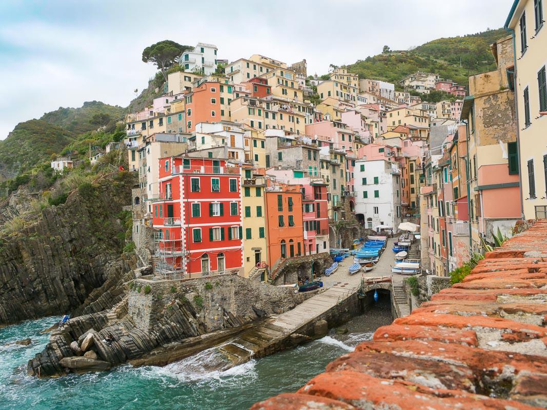 Bunte Häuser am Meer - Cinque Terre - Riomaggiore