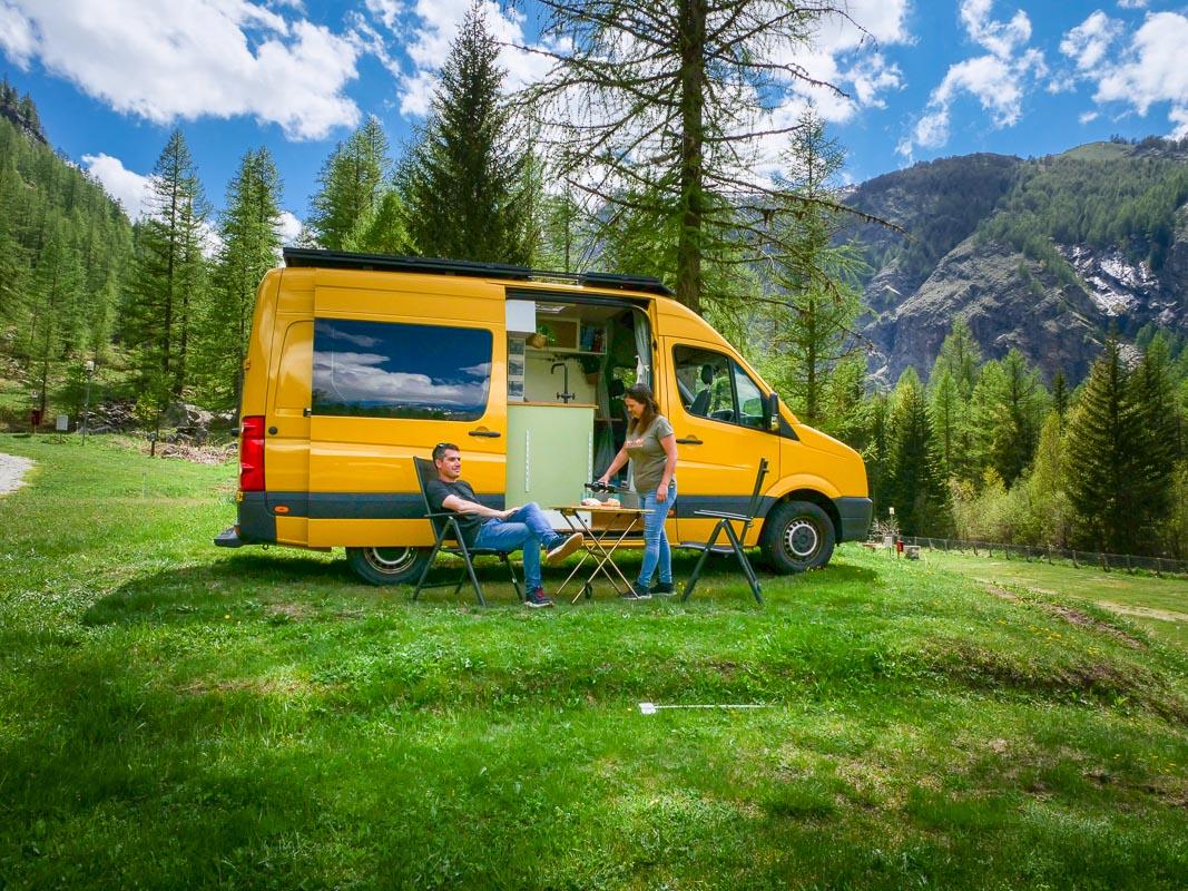 Campingplatz in Italien - Naturcamping in den Bergen